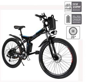 Bicicleta eléctrica plegable Cooshional para montaña