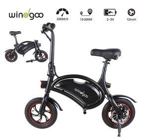 Bicicleta eléctrica plegable Windgoo con batería recargable rápida