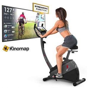 Bicicleta estática Sportstech con 12 programas de entrenamiento