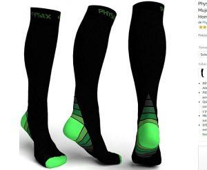 Calcetín de compresión Physix Gear Sport para evitar el dolor