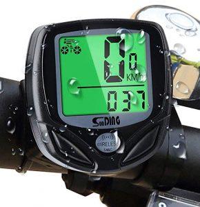 Cuentakilómetros para bicicleta Mitening con retroiluminación