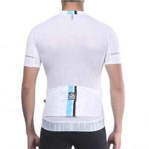 Maillot de ciclismo SANTIC con refuerzo de silicona