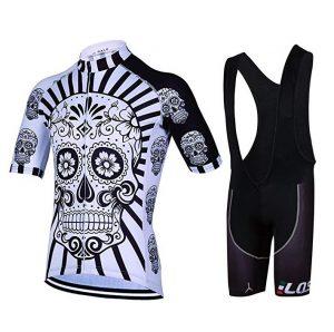 Maillot de ciclismo para mujer Feilaxleer con diseño ajustado