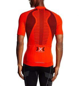 Maillots de ciclismo X-Bionic con espina dorsal para evitar el sobrecalentamiento