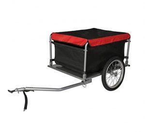 Remolque para bicicletas WilTec con carga cubierta