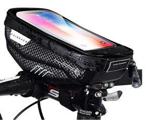 Soporte de móvil para bicis Faireach con bolsillo para pertenencias personales