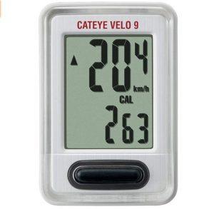 Velocímetro para bicicletas Cat Eye con información sobre calorías quemadas