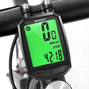 Velocímetros de bicicletas Backture con retroiluminación